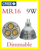 Wholesale - 10x CREE LED MR16 GU5.3 GX5.3 9W 3x3W High power Spot Light Bulb Spotlight spot lamp Downlight 580lm