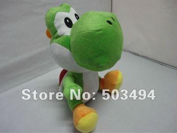 Free shipping Retail 1PCS Super Mario bros Green Yoshi plush doll toys 11 inches
