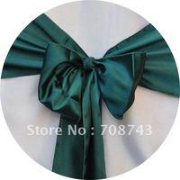 Free shipping -    top quality fushia chair cover sash /satin sash
