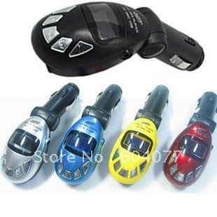 Free shipping Car MP3 Player with FM Transmitter USB Pen Drive/SD/MMC Slot 10pcs/lot