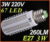 Wholesale Ultra Bright 6000-6500k E27 7W 110V 108 LED Light Bulb Corn light LED Lamp Drop - Free shipping