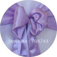 Free shipping -    top quality  lavenderchair cover sash /satin sash