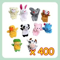 free shipping,Animal Finger Puppet Finger Toy Finger Doll Baby Dolls Baby Toys Animal Doll 10pack 400pcs/lot