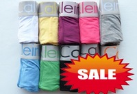 Wholesale - 10pcs new men'S underwear Material 93% cotton 7% spandex boxer elastic style Color mix