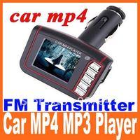 "1.8"" LCD Wireless Car MP4 MP3 Player FM Transmitter SD MMC USB Black freeshipping dropshipping"