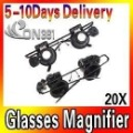 Watch Repair Magnifier Loupe 20X Glasses With LED Light  Glass Magnifying Eye Glasses Loupe Lens 3pec/lot