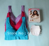 300pcs/lot=100 boxes DHL FreeShipping colored Genie Bra with removal pads