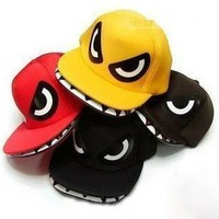 2011 Hip hop flat hat super cool shark mouth hat +free shipping