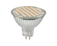 Wholesale Free Shipping! 12V 20pcs/lot MR16 SMD 60 LED Lamp Warm White Light /DAY White Light Bulb Wide Degree