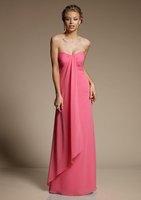 2013 New Arrival ! Free Shipping!sweet beckline empire chiffon asymmentric full-length custom-made bridesmaid dress london