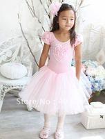 5y-10years pink Girl's ballet skirt, kid dress,kid's TUTU skort 4 pcs wholesale&Free freight