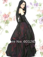 Wonderful Ruffled Gothic Clothing Lolita Cosplay Dress for halloween party (free shipping)
