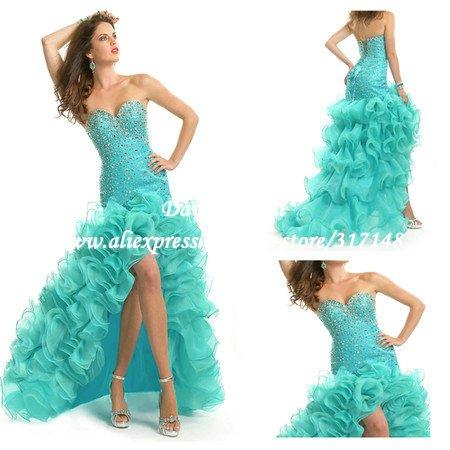 Prom Dress Ruffles Ruffles Mermaid Prom Dress