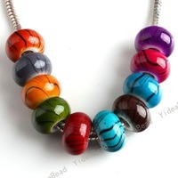 Mixed Acrylic Round Charms Beads Fit Bracelets Necklace Accessories Jewelry Findings DIY 151326