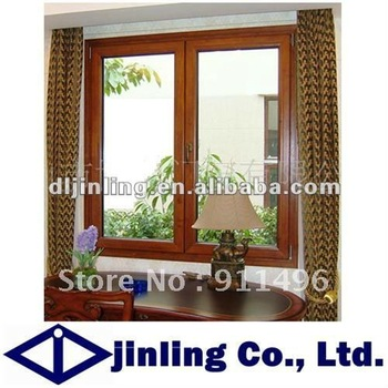 Wood Grain Aluminum House Windows and Aluminum Composite House Windows