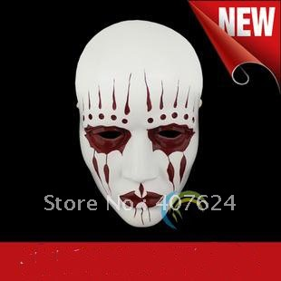 Hotest Free Shipping Theme Resin Collection Halloween slipknot joey mask White color Free Size Collection(China (Mainland))