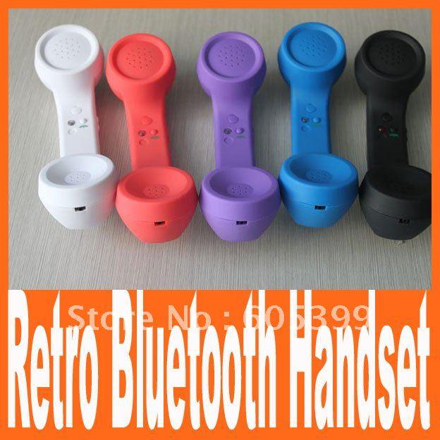 wholesale Retro mini bluetooth handset headset bluetooth earphone for Iphone ipad Nokia and any mobile phone VHBH03 FreeShipping(China (Mainland))