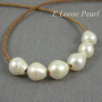 White Freshwater Pearls Nugget Large Hole Pearl 9-9.5mm X 10-11mm 10 Pieces Rice Pearl 2.5mm Hole