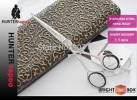 5.5 inch Professional Barber Scissors,Hairdressing Scissors, Razor Shears,Chinese 440C Quality (9CR13)