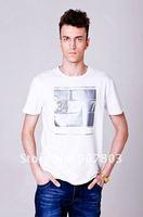 Мужская футболка New style Retail Men's short sleeve t shirt Mens cotton lycra t-shirts 4 COLOR M-XXL MPL001