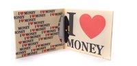 2012  NEW Mad money printing wallet purse fashion dollar Mini wallet free shipping