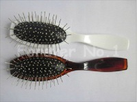 Loop brush/ Hair brush/comb White/Pink/Brown for human hair extensions or wigs/ beauty salon tool