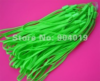 200Pcs Light Green  wrist Strap Lanyard for Mobile Mp3 DC