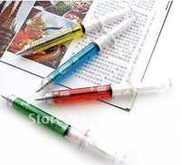 Free shipping  100pcs 4COLORS New syringe pen/Ball pen/ Fashion