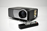LED Projector Portable Mini HOME Cinema HDMI VGA S-Video HD DV factory wholesale 640*480,support 800*600 1080i