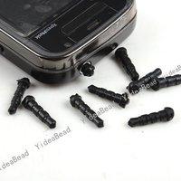 Hot Sale 300pcs Black Plastic Dustproof  Plug Phone Hole Protector  Fit Phone Hole 160440 Free Shipping