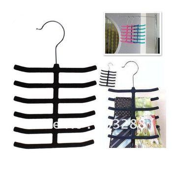12 Tie Belt Towel Velvet Flocked Non-Slip Scarf Shawl Tie Belt Clothes Hanger