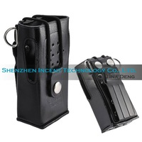 Free shipping (DHL) 10 pcs Hard Leather Carrying Case For 2-Way Radio TK3207 TK2207 TK-3307