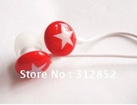 wholesale Colourful stars stereo headphone,chocolate earphone,MP3,mobile phone earphonecolors ear drops series,fashion mix-style