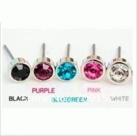 wholesale Shiny small crystal earrings/earings/Ear Rings/DIY accessories /sweet ear-nails/round crystal earings