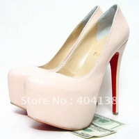 Wholesale Fashion Sexy 16cm heel ladies shoes wedding Daffodile Genuine leather platforms women's pumps size 34-42