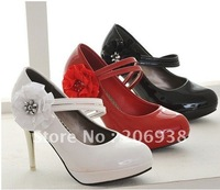 Most Popular Women's High-heeled Flowers shoes,lady Banquet Shoe,Three color can choose shoes.