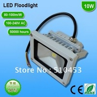 Free DHL/UPS/Fedex shipping 10pcs/lot 10W LED floodlight  white  floodlight Waterproof IP for outdoor 85-265VAC RoHS and CE