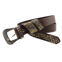 New Arrival PU Leather belt with rivet thin rivet waistband for lady free shipping wholesale