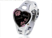 Cheap and fashionable women watches,Exquisite Kimio Bangle Quartz Wrist Watch - Black w/ Pink