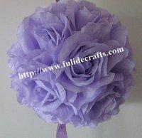 30cm lilac foam center artificial kissing wedding decoration flowers ball