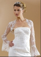 jk-015  New arrival long sleeves lace Bridal Wraps/jackets