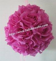30cm Pastel Violet foam center artificial kissing wedding decoration flowers ball