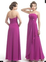 Free Shipping!strapless full-length asymmentric full-length beaded backless custom-made 2013 chiffon long dress