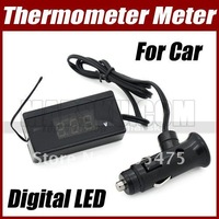 10 x  2 in 1 Car Auto 12V Digital LED Thermometer Temperature Gauge with Voltage Monitor Meter 3236