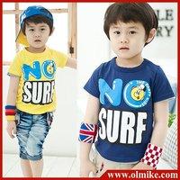 Free shipping 4pcs / lot wholesale Children's fashion t shirt kid's summer wear boy's cotton tees t shirts & tops CD018