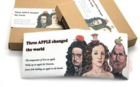 2012 Hot  canvas handwork wallet Cartoon Apple printing wallet creative dollar purse  wallet free shipping