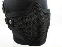 2pcs Strike Half Face Steel Wire Mask (Black) free ship