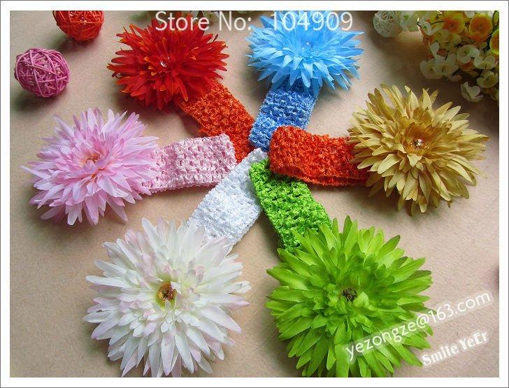 Children's Hair Set Kids Wear 3 Part (Hair Flower+0.5inch Headband+Hairclips) Baby Grils' Headwear Metal Clips 12pcs(China (Mainland))