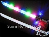 Free shipping Flash sword glow sword toy sword emitting weapon with music-selling children's toys manufacturers wholesale