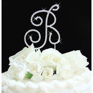 Brilliant Cake Topper, Rhinestone Cake Mogoram ------CK001